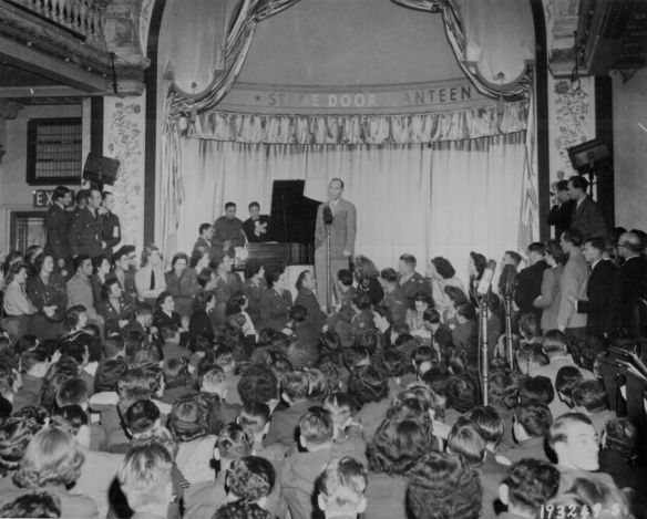 Bing Crosby singing for the troops.