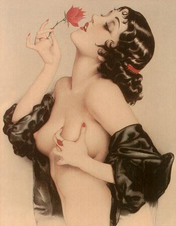 Painting by Alberto Vargas